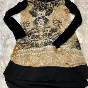 Italian Artistic and Embellished Top